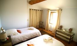 Chambre 3 du gîte - Domaine de Montcalm - Location dans les Pyrénées Orientales