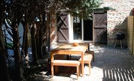 Jardin du gîte - Domaine de Montcalm - Location dans les Pyrénées Orientales